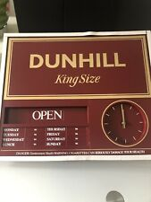 Vintage Dunhill Cigarette Tobacco Open And Closed Sign and clock ( RARE )