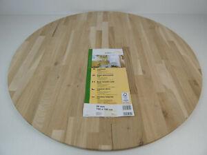 Tischplatte Leimholz Eiche Ø 1000mm x 28mm Eichenholz Holzplatte Nr. 104