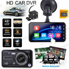 New 4'' HD 1080P Car DVR Dual Lens Dash Cam Touch Screen Recorder Night Vision
