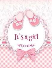 It's a Girl Welcome: Baby Shower Guest Book Sign In/Guest Registry with Gif...