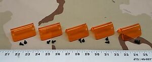 (5) New HD Lund Replacement Lens Lenses Orange Amber Hardware Set Cab Moonvisor