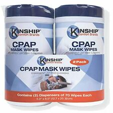 CPAP Mask Wipes (140 Count 2-70 Count Packs) Lint Free Easy Opening top.