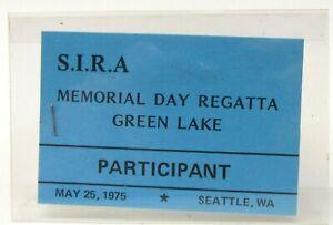 1975 S.I.R.A. GREEN LAKE REGATTA PARTICIPANT pinback Hydroplane boat racing b1