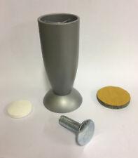 Piedino piede x tavolo in lega con vite colore alluminio ø 40 mm h 100 mm nuovo