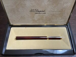 GENUINE S.T.DUPONT CHINESE LACQUER FOUNTAIN PEN  WITH 18 KT NIB