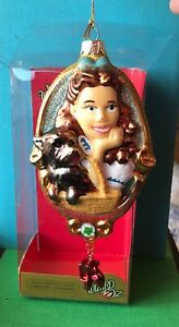 Dorthy & Toto Glass Christmas Ornament Kurt Adler Retired Line Wizard of Oz