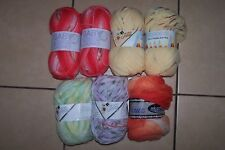 700g HUGE self patterning JOB LOT BUNDLE WOOL YARN - spot stripe lot DK chunky