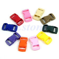 10Pcs Colored Curved Side Release Plastic Buckles For Umbrella Paracord Bracelet