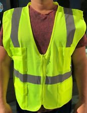 XL  ANSI CLASS 2/  Reflective Tape/  High Visibility Yellow Safety Vest