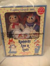 Vintage RARE 2003 Raggedy Ann & Andy Country Carnival IMPISH Smile II Doll Set