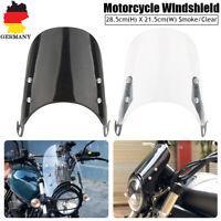 Universal Für 5'' 7''Motorrad Scheinwerfer Windschutzscheibe Windschild Abweiser