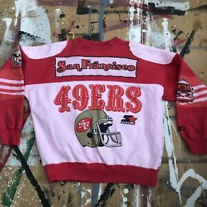 Vintage 1980s Starter All Over Print San Francisco 49ers Sweatshirt Large AOP