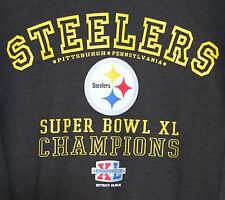 Pittsburgh Steelers Super Bowl XL Champions  Sweatshirt XL Black NFL Football