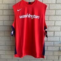 Nike NBA Washington Wizards Red Sleeveless Shirt AV0981-657 - Men's Size L-TALL