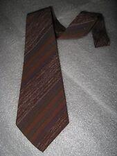 Wembley 1950's Necktie - Vintage Mid Century Brown Rockabilly Stray Cats Tie