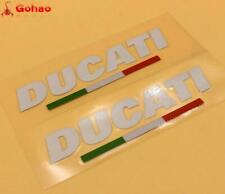 2X Reflective Italian Flag Sticker Decals For DUCATI Racing Evo Bikes Motorcycle