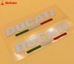 2X Reflective Italian Flag Sticker Decals For DUCATI Racing Evo Bikes Motorcycle