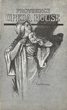 "Oscar Straus ""CHOCOLATE SOLDIER"" Whitney Opera Company 1912 Providence Playbill"