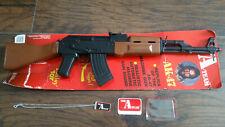 The A-TEAM Mr. T AK-47 Daisy Toy replica machine-gun on Card w/ Dog tag ID 1983