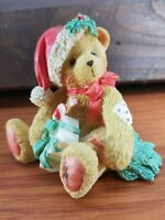 Cherished Teddies ENESCO 1993 December CHRISTMAS Bear DENISE Figurine w/ Box COA