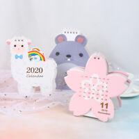 2020 Cartoon Table Desktop Calendar Cute Sheep Shape Memo Planner Daily Schedule