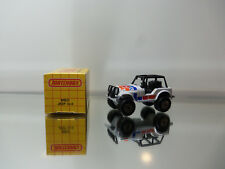1983 Matchbox Jeep 4x4 Mb37 - White W/ Multi Color Tampo - Mint Loose 1/64 Scale