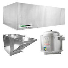 "HoodMart 12'x48"" Restaurant Type 1 Commercial Kitchen Hood System w/ Makeup Air"