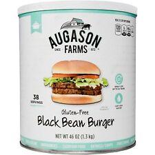 Augason Farms Gluten-Free Black Bean Burger 46 oz #10 Can Prepper Food Storage
