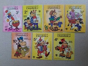 Dominica 1979 Disney Mickey Mouse and Others Stamps  MNH