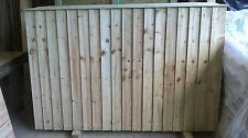 6ft x 6ft Feathered Edge Wood Fence Panels, Heavy Duty Fencing