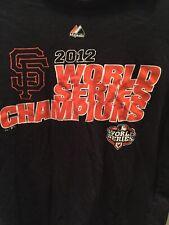 San Francisco Giants 2012 World Series  Champions Majestic T-SHIRT Size medium