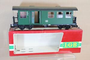 LGB 3071 G GAUGE DB GREEN KBD 4i 2nd CLASS PASSENGER BRAKE COACH KARLERUHE nu