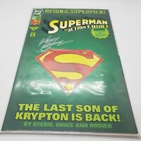 1993 ACTION COMICS #687 - REIGN OF SUPERMEN - SIGNED BY KERRY GAMMILL - COA