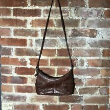 Fossil Vintage Baguette Bag Shoulder Strap Brown Leather Y2K