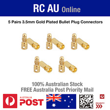 5 Pairs 3.5mm Gold Plated Bullet Plug Connectors - RC Battery and ESC