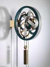Dutch design mechanical pendulum wall clock by Klokby
