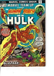 Marvel Team-Up 18 Hulk Human Torch Blastaar VG/F 1974 Glossy