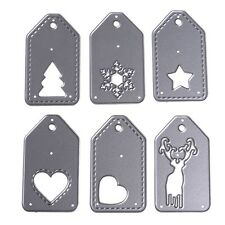 6pcs/set Tags Dies Metal Cutting Stencil For Scrapbooking Paper Cards Decor