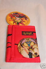 NEW  IN PACKAGE 1996 YU GI OH RED TRIFOLD WALLET