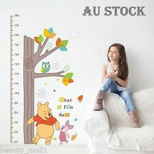 Winnie The Pooh Height Chart Removable Kids Bedroom Home Wall Stickers Decal Art
