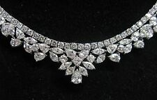 """Multi Form Diamant Rivera Cluster Weiss Gold Halskette 18Kt 17 """" 30.91Ct F-G Vs"""