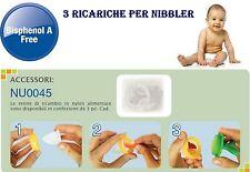 Nuby Nibbler Retine 3pz di ricambio per Nibbler