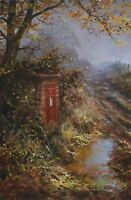 """DAVID DIPNALL """"Autumn Lines"""" postbox SIGNED LIMITED ED! SIZE:41cm x 29cm NEW"""