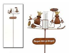 Regenmesser 23302 Frosch  Braun Metall Gartendeko Beetstecker Metall Stab Vogel