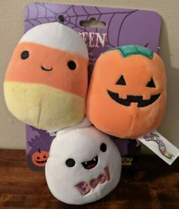 """New Squishmallow 3.5"""" Halloween Bundle Pet Toy Collection with Squeakers 2021"""