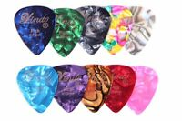 10 Stylish Colourful Guitar Picks Plectrums - 0.46mm, 0.58mm, 0.72mm and 0.96 mm