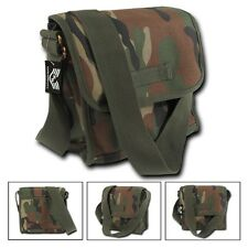 Woodland Camo Military Messenger Canvas Shoulder Vintage Army Tote Field Bag