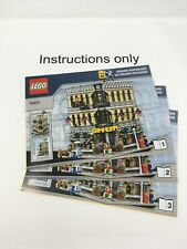 ONLY instructions Books 1-3 Lego 10211 Creator Grand Emporium; no bricks/parts