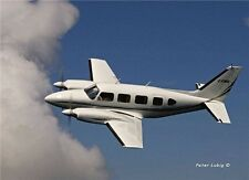 """1/6 Scale PIPER PA-31 NAVAJO CHIEFTAIN scratch build Rc Plane PLANS & Inst 76""""WS"""