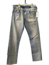 NEW Mens DIESEL Heeven 8LN Straight Leg Blue Denim Jeans Size 32W 32L